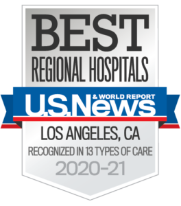 Highest ranked hospital in Orange County in U.S News & World Report