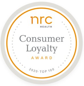 Among the top 100 hospitals nationwide in the 2020 NRC Health Consumer Loyalty Award List